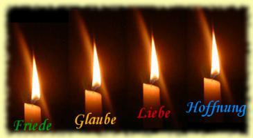 Vier Kerzen - Gedicht